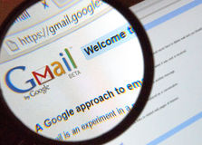 Embleem van de Gmail het oude stijl Stock Fotografie