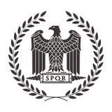 Embleem van de Roman adelaar stock illustratie