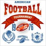 Embleem van de sport het Amerikaanse Voetbal Stock Afbeelding