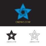 Embleem van de ster van de bioskoop Royalty-vrije Stock Afbeelding