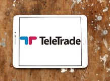 Embleem van de TeleTrade het online makelaar royalty-vrije stock foto