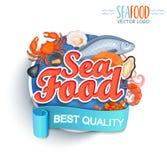 Embleem van de zeevruchten het beste kwaliteit Stock Afbeelding