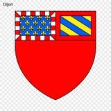 Embleem van Dijon stock illustratie