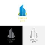 Embleem van film vectorillustratie Stock Fotografie