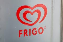 Embleem van Frigo Frigo is merk van roomijs dat door Unilever wordt gemaakt royalty-vrije stock foto