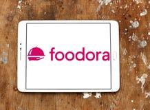 Embleem van het de leveringsbedrijf van het Foodora het online voedsel Stock Foto
