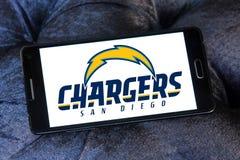 Embleem van het de voetbalteam van San Diego Chargers het Amerikaanse Stock Foto's