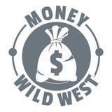 Embleem van het geld het wilde westen, uitstekende stijl vector illustratie