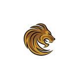 Embleem van het leeuw het hoofdpictogram Royalty-vrije Stock Foto