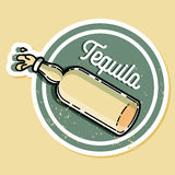Embleem van kleuren het uitstekende tequila Stock Afbeeldingen