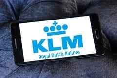 Embleem van Klm het koninklijke Nederlandse luchtvaartlijnen Royalty-vrije Stock Fotografie