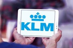 Embleem van Klm het koninklijke Nederlandse luchtvaartlijnen Stock Afbeeldingen
