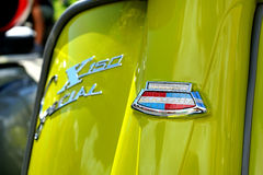Embleem van Lambretta X 150 Speciale, Appelgroene lammy, 1968 Stock Afbeelding
