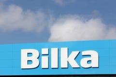 Embleem van merkhypermarket Bilka Stock Fotografie