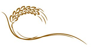 Embleem van tarwe vector illustratie