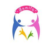 Embleem vectorillustrator voor gelukkige familiedag vector illustratie