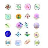 embleem 25 voor appsgebruik Stock Foto's