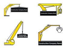 Embleem voor reparatie en bouwBedrijf Stock Foto's