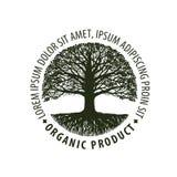 Embleemboom Organisch, natuurlijk product Aard of ecologiesymbool Milieuvriendelijk pictogram Royalty-vrije Stock Fotografie