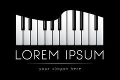 Embleemmalplaatje, muziek, grote pianosleutels, vector Royalty-vrije Stock Foto's