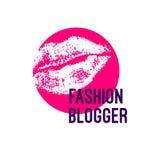 Embleemmanier blogger vector illustratie