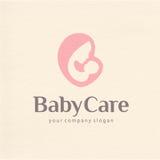 Embleemontwerp van moederschap en zwangerschap stock illustratie