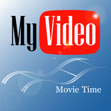 Emblem мое видео Стоковое Изображение RF
