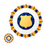 Emblem. Vector illustration. Insert your information Stock Image