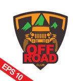 Off-road car logo illustration, emblem. Emblem for Adventurer logo, Logo transportation, Business modern logo Royalty Free Stock Photography