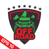 Off-road car logo illustration, emblem Royalty Free Stock Photography