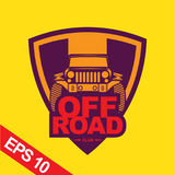 Off-road car logo illustration, emblem Royalty Free Stock Images