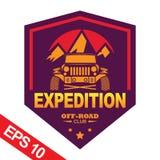 Off-road car logo illustration, emblem. Emblem for Adventurer logo, Logo transportation, Business modern logo Royalty Free Stock Images