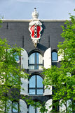 Emblem of Amsterdam in a palace,. Holland Stock Photo