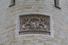 Emblem auf Halle Gate in Brüssel, Belgien Stockfoto