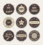 Emblem-Aufklebersammlung der Weinleseart Retro- Stockbilder