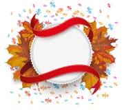 Emblem Autumn Foliage Flag Percents Royalty Free Stock Photos