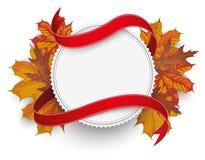 Emblem Autumn Foliage Flag Royalty Free Stock Photography
