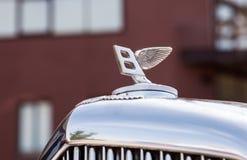 Emblem av den Bentley bilen Fotografering för Bildbyråer