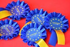 Emblem av den europeiska unionen royaltyfri fotografi