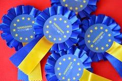 Emblem av den europeiska unionen royaltyfria bilder