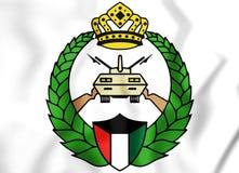 Emblem av den kuwaitiska nationella vakten stock illustrationer