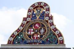 Emblem av London Chatham och Dover Railway, London, Förenade kungariket royaltyfri fotografi