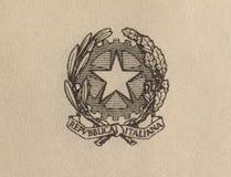 Emblem av Repubblica Italiana (som betyder italienare Repubblic) i Rome royaltyfria bilder