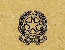Emblem av Republiken Italien arkivbild