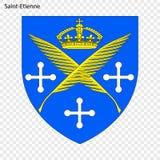 Emblem av Saint Etienne stock illustrationer