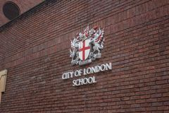 Emblem av staden av den london skolan Royaltyfria Foton