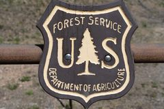 Emblem badge logo for the US Forest Service, a government agency