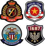 Emblem badge shield set Stock Images