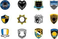 Emblem badges Stock Photo