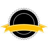 Emblem with banner (vector) Royalty Free Stock Images